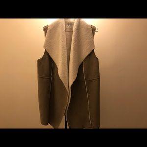 Faux Fur Lined Vest XL